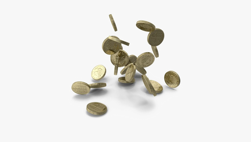 Falling Coins Download Hd Png - Coins Falling Pound Png, Transparent Png, Free Download
