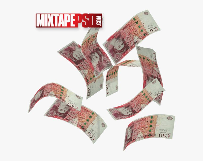 Falling Money Png British, Transparent Png, Free Download