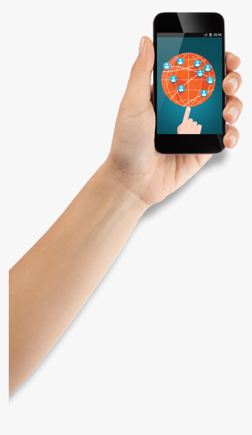 Arm Holding Phone Png, Transparent Png, Free Download