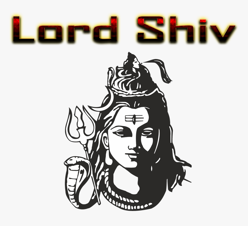 Lord Shiv Png Free Background - Shiva Lord Hd Face, Transparent Png, Free Download