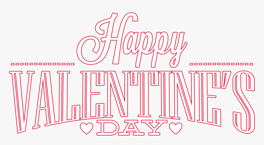 Happy Valentines Day Png Download Image - Calligraphy, Transparent Png, Free Download