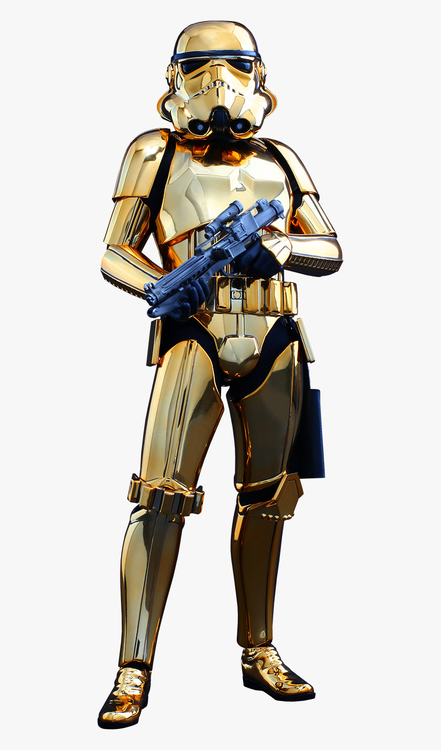 Hot Toys Stormtrooper Gold Chrome Version Sixth Scale - Star Wars Gold Stormtrooper, HD Png Download, Free Download