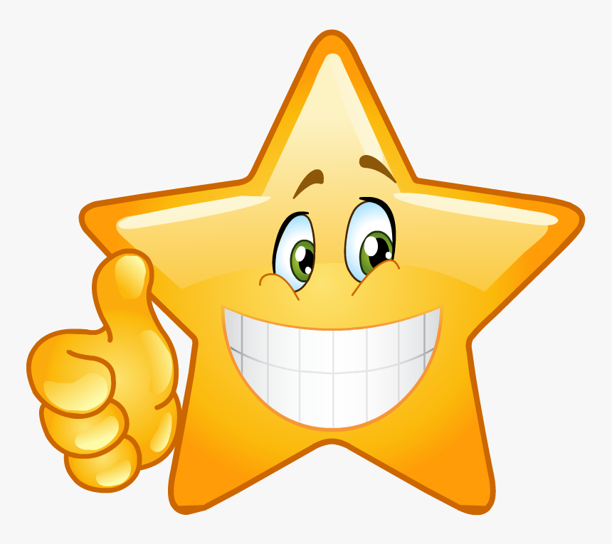Star Smiley Face Png, Transparent Png, Free Download