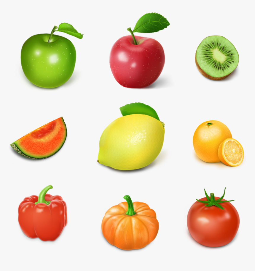 Fruit Drawing Vegetable Food Game Individual Fruits And