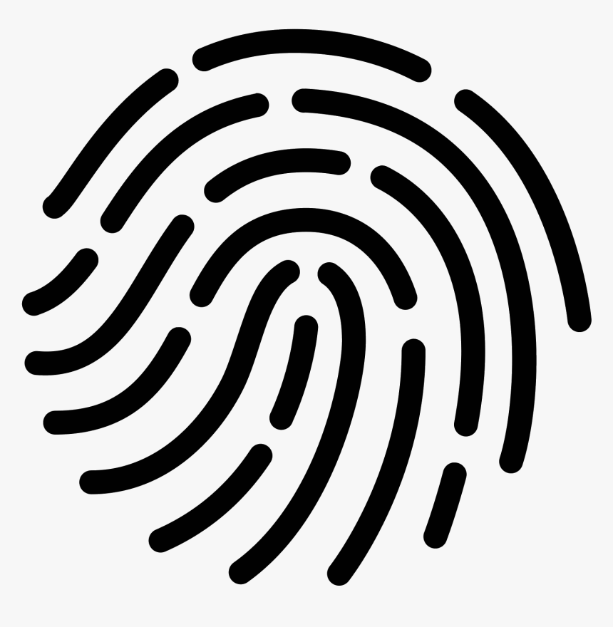 Fingerprint Icon Png White, Transparent Png, Free Download