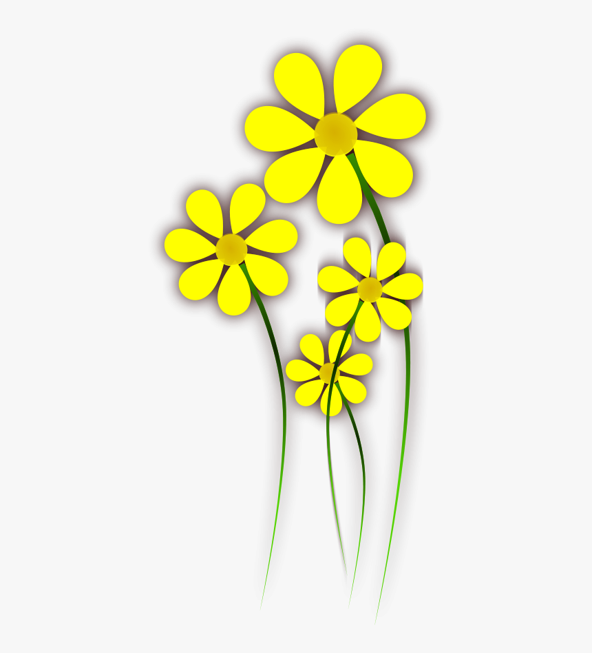 How To Set Use Daisies Yellow Flower Clipart , Png - Yellow Daisy Flower Clipart, Transparent Png, Free Download