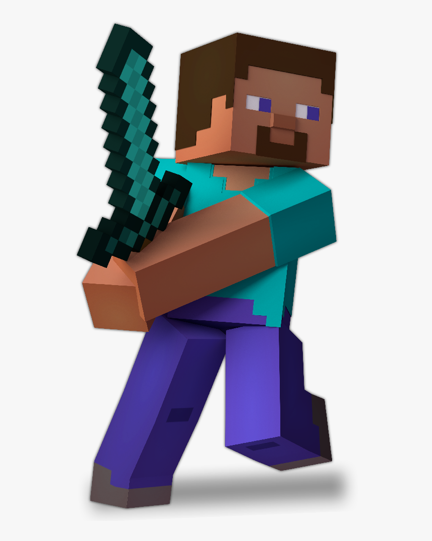 Transparent Minecraft Steve Png - Minecraft Steve Smash Render, Png Download, Free Download