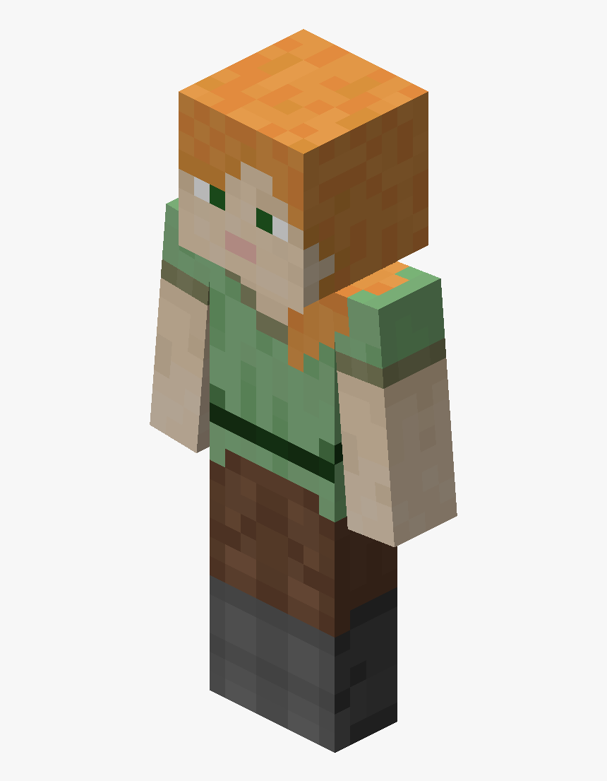 File Alex Official Wiki Alex From Minecraft Hd Png Download Kindpng