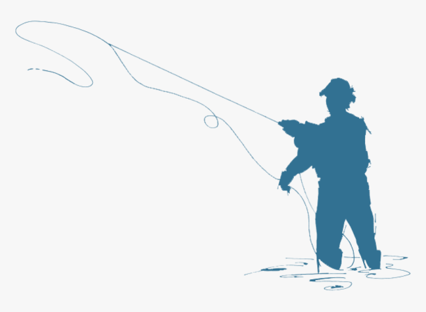 Fisherman Silhouette Fly Fisherman Silhouette At Getdrawings - Fishing Line Transparent Background, HD Png Download, Free Download