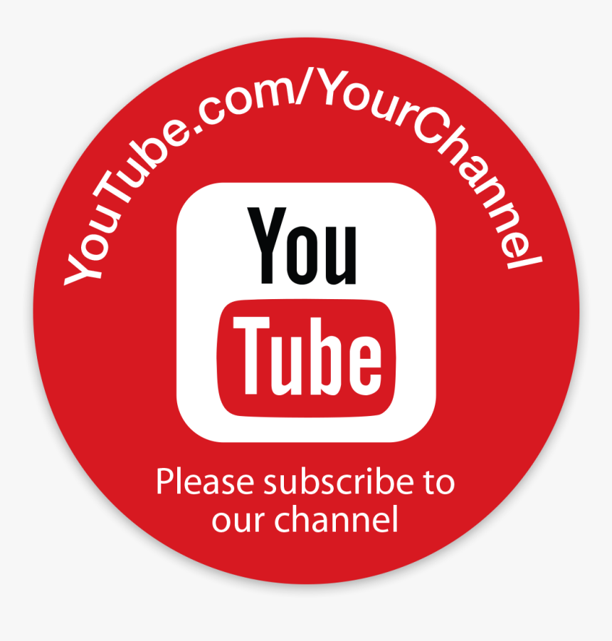Picture Of Personalized Youtube Stickers - Youtube Logo Circle Vector, HD Png Download, Free Download