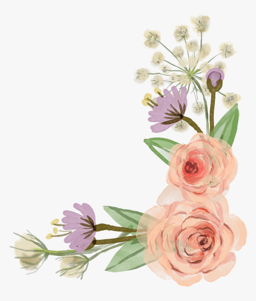 Flower Rose Clip Art Transparent Free Flower Border Clip Art Hd Png Download Kindpng