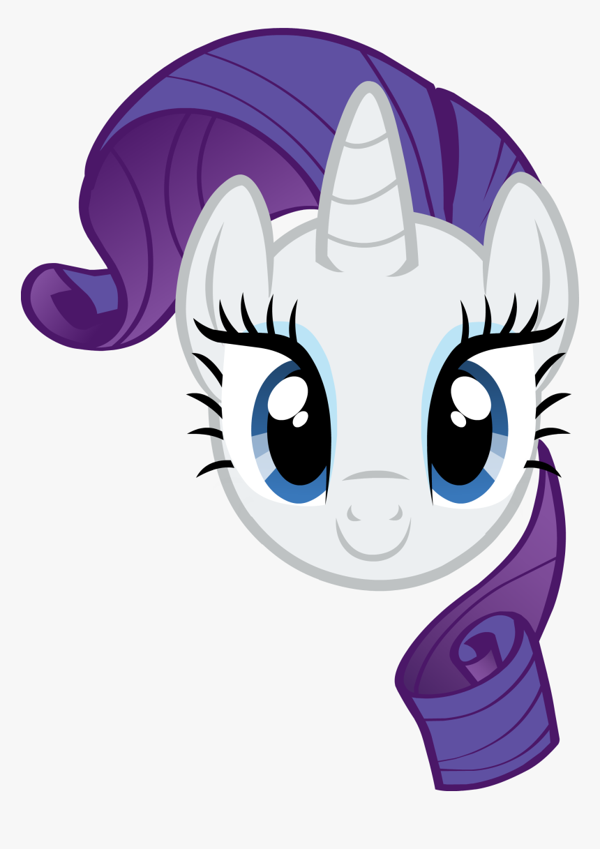 Head Clipart My Little Pony - My Little Pony Rarity Face, HD Png Download, Free Download