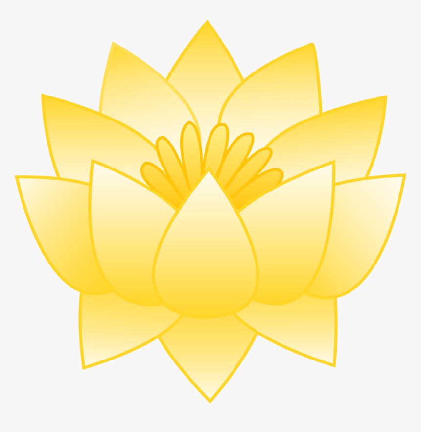 Yellow Lotus Flower - Yellow Lotus Flower Cartoon, HD Png Download, Free Download