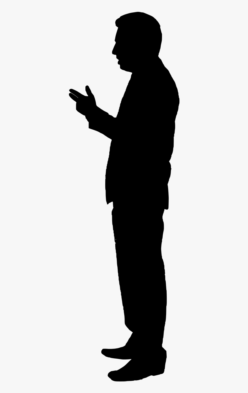 Silhouette, Isolated, Man, People, Standing, Arms, - Host Silhouette Png, Transparent Png, Free Download