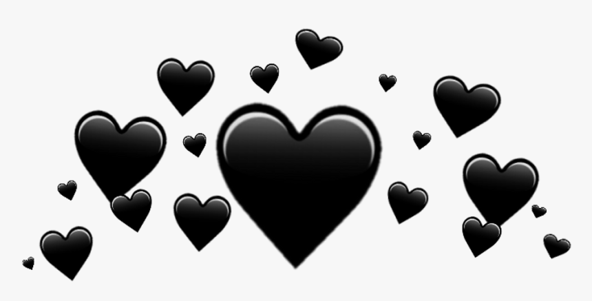 ♥ Black Heart Crown ♥ - Black Heart Crown Transparent, HD Png Download, Free Download