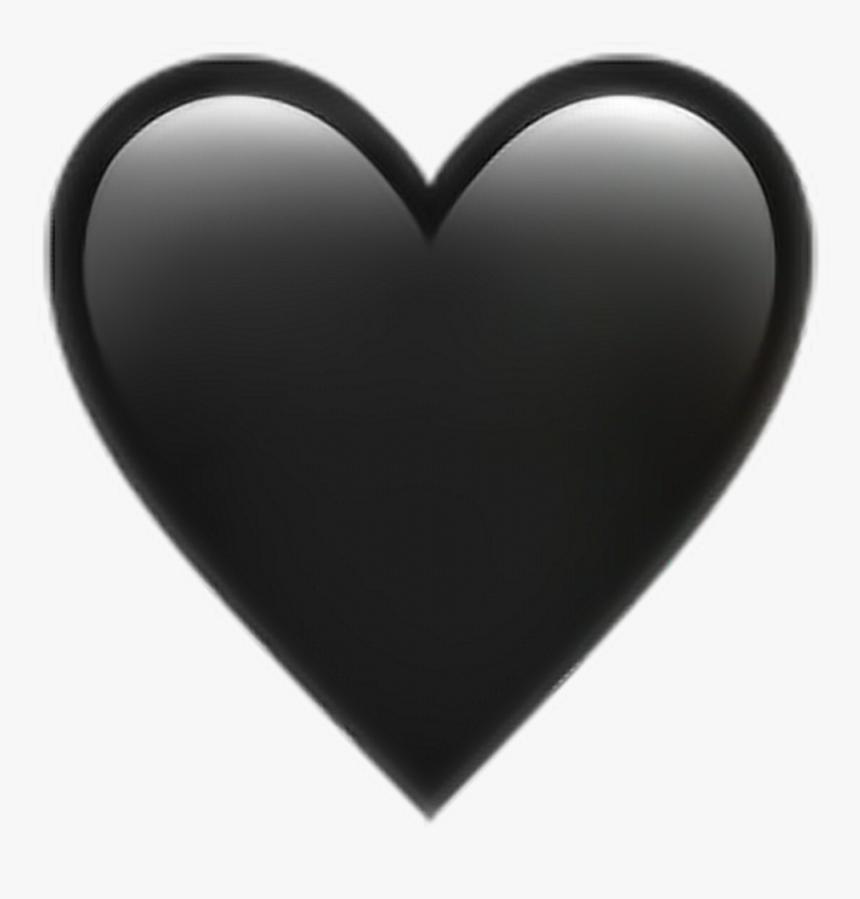 Black Heart Transparent Background Png - Emoji Iphone Png Heart, Png Download, Free Download