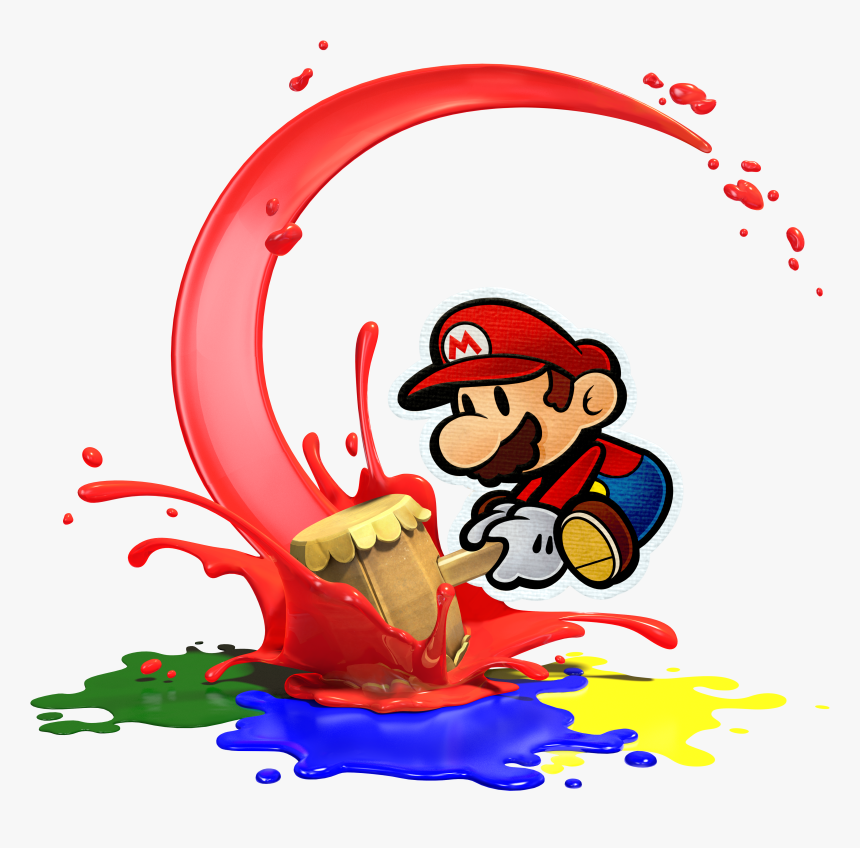 Paper Mario Color Splash - Mario Bros Color Splash, HD Png Download, Free Download