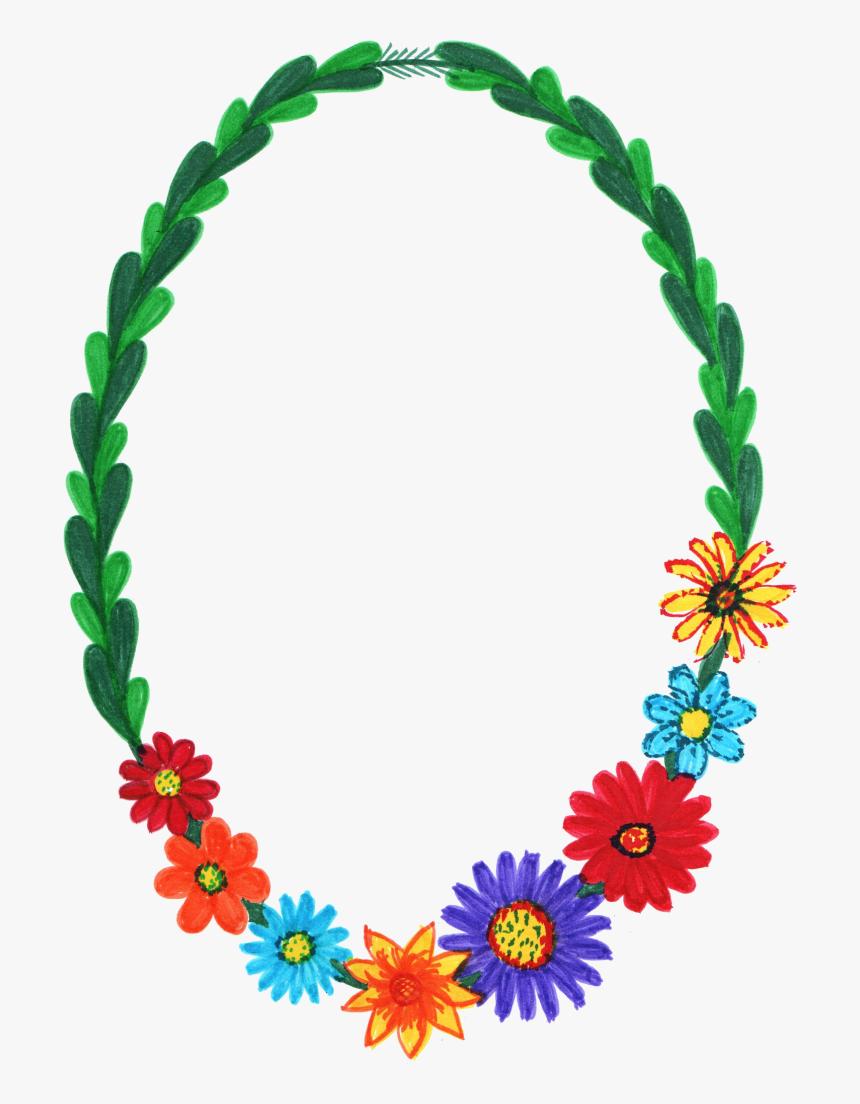 Png Format Pictures - Flower Oval Frame Png, Transparent Png, Free Download