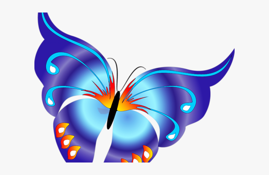 Rainbow Butterfly Clipart Png Format, Transparent Png, Free Download