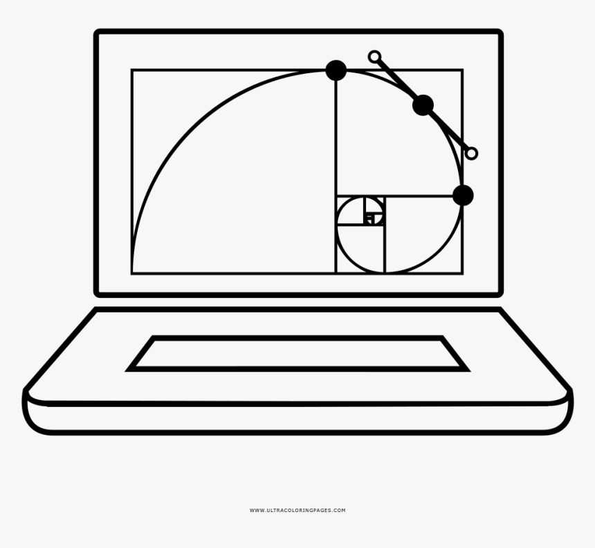 Golden Ratio Laptop Coloring Page - Golden Ratio, HD Png Download, Free Download
