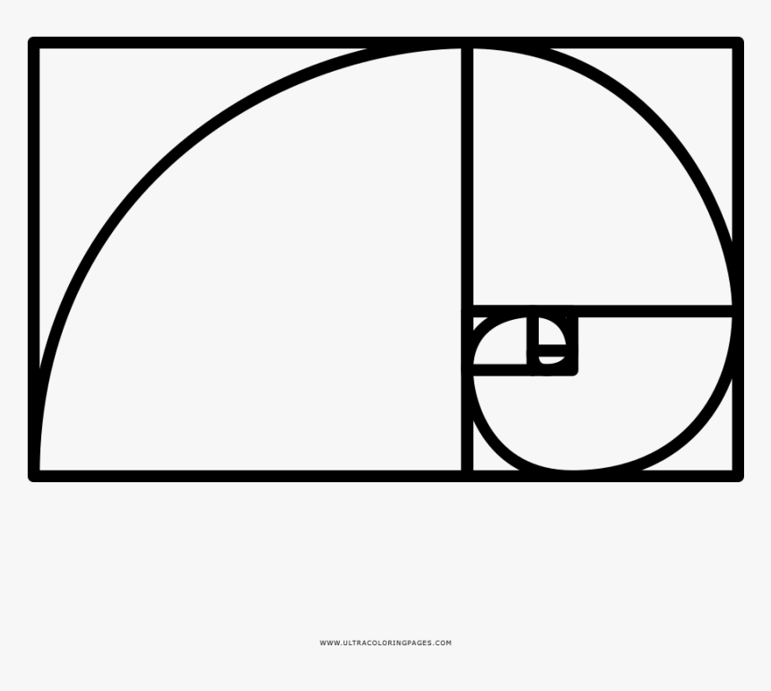Golden Ratio Coloring Page - Golden Ratio Spiral, HD Png Download, Free Download