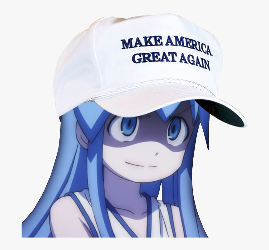 Anime With Hat Make America Great Again, HD Png Download, Free Download