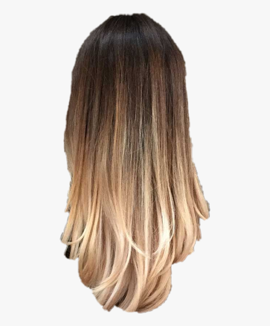 Transparent Brunette Png - Ombre Hair Color Straight Hair, Png Download, Free Download