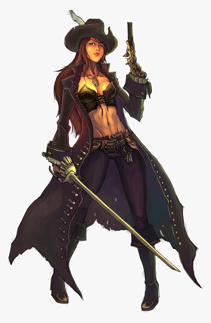 Pirate Png - Captain Anime Pirate Girl, Transparent Png, Free Download