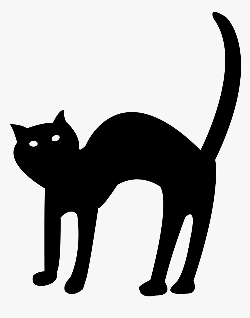 Halloween Black Cat Transparent Background Png - Halloween Black Cat Clipart, Png Download, Free Download