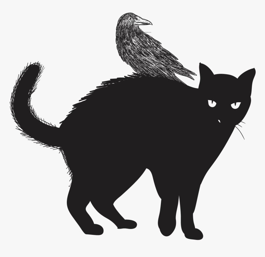 Black Cat Felidae Halloween Clip Art - Halloween Printables Black Cat, HD Png Download, Free Download