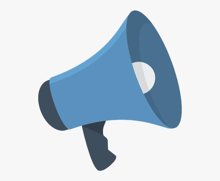 vector megaphone blue transparent background loudspeaker icon hd png download kindpng vector megaphone blue transparent