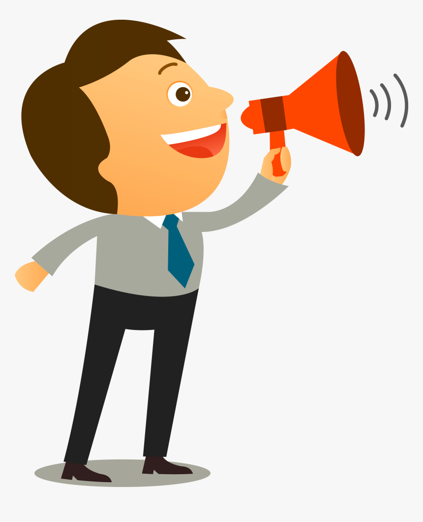 Man With Megaphone Clipart - Effective Communication Communication Clipart,  HD Png Download - kindpng