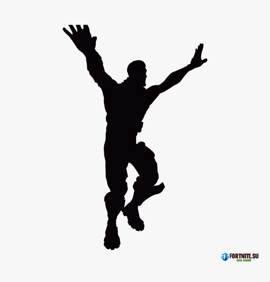 Fortnite Battle Royale Poster Vector Graphics Fortnite Dance Silhouette Hd Png Download Kindpng