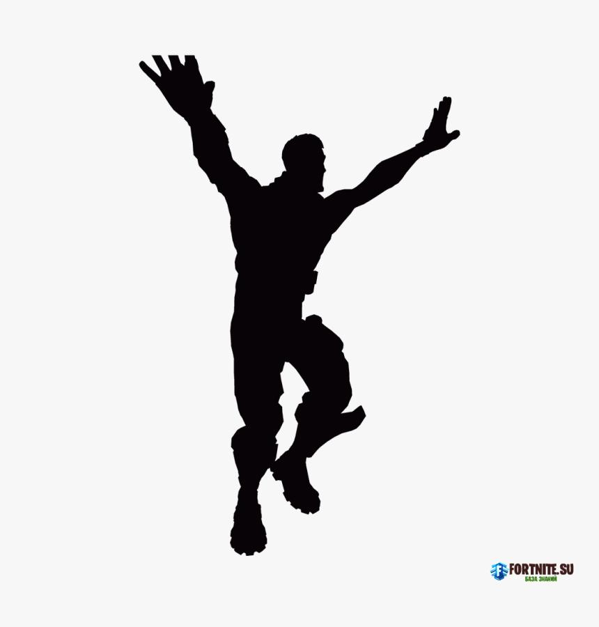 Fortnite Battle Royale Poster Vector Graphics Fortnite Dance Silhouette Hd Png Download Kindpng