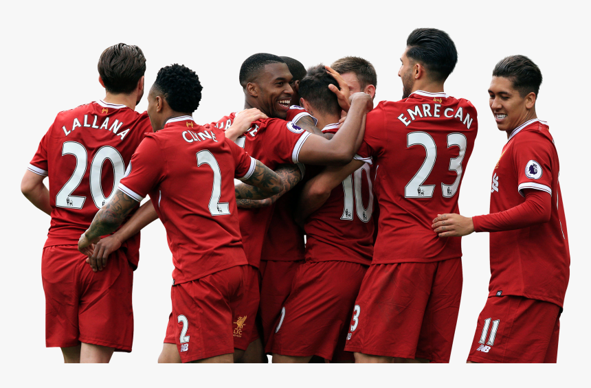 Liverpool Players Celebrating Render - Liverpool Fc 2017 18, HD Png Download, Free Download