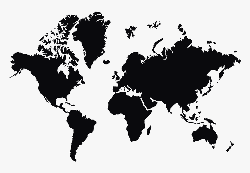 Free Download Of World Map Png In High Resolution - World Map Vector Large, Transparent Png, Free Download