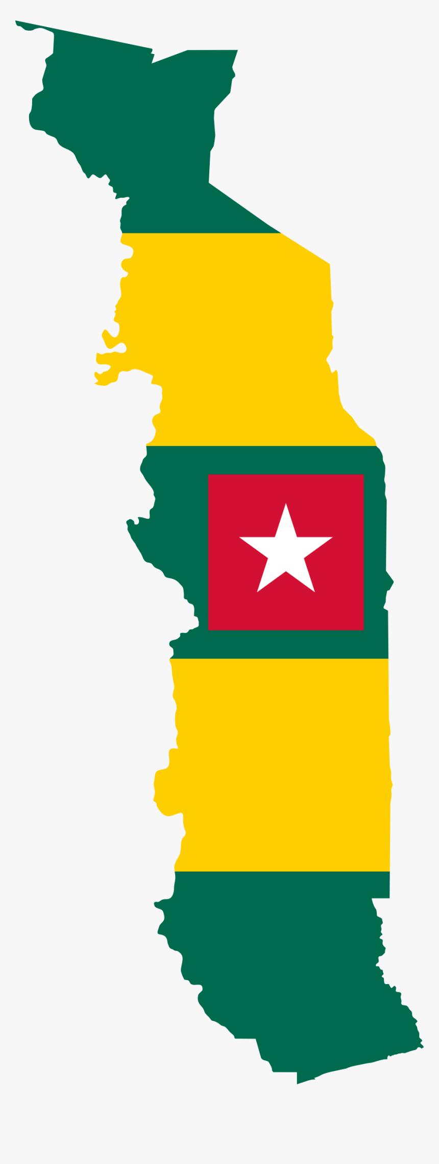 Togo Flag Map Clip Arts - Flag Map Of Togo, HD Png Download, Free Download