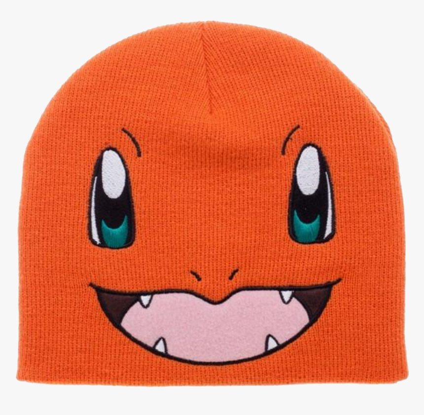 Charmander Knit Beanie Cap Hat - Beanie, HD Png Download, Free Download