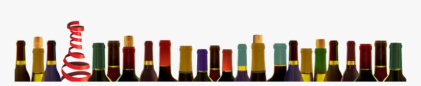 Row Of Wine Bottles Png, Transparent Png, Free Download