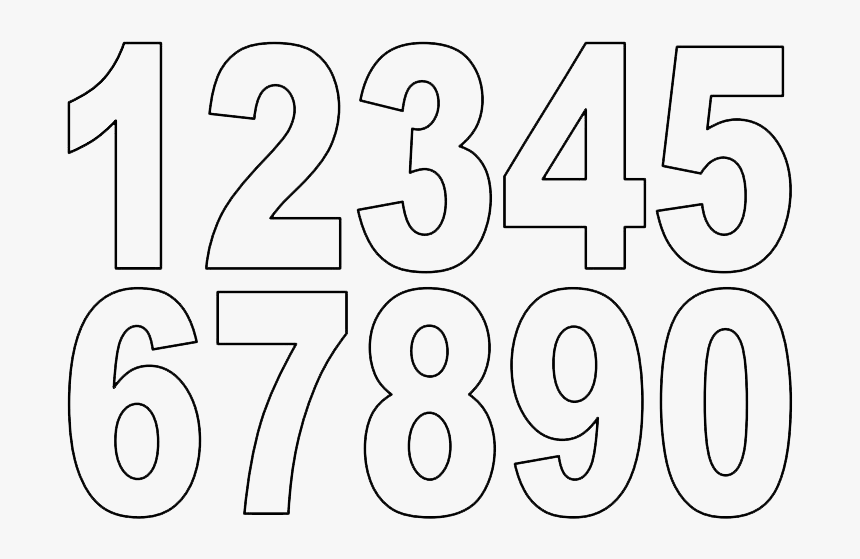 Numbers Png Download - Numbers 1 10 Outline, Transparent Png, Free Download