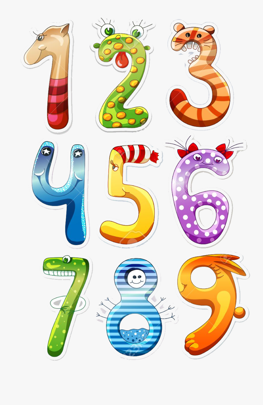1 To 10 Numbers Png Image File - Los Numeros Para Inicial, Transparent Png, Free Download