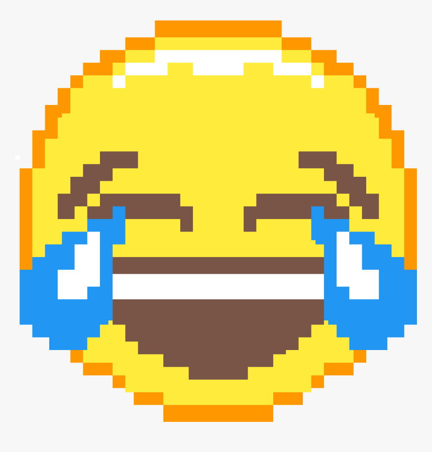 Laughing Crying Emoji Pixel Art, HD Png Download, Free Download
