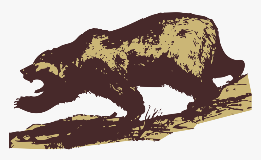 Wildlife,carnivoran,bear - Grizzly Bear Clip Art, HD Png Download, Free Download