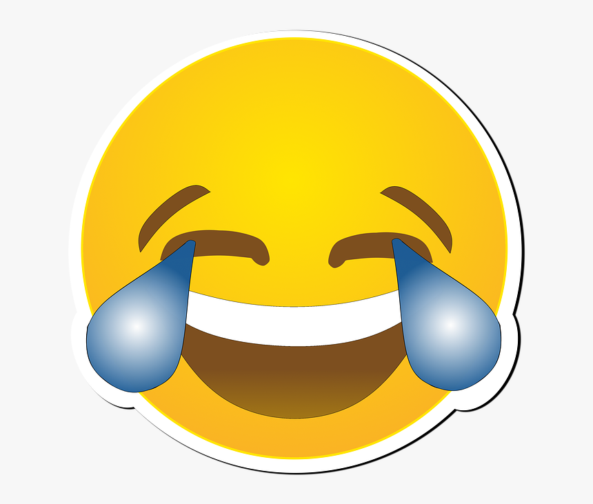 Cry, Smiley, Laughs, Joy, Funny, Amusing, Emojis - Funny Emoji Transparent Background, HD Png Download, Free Download