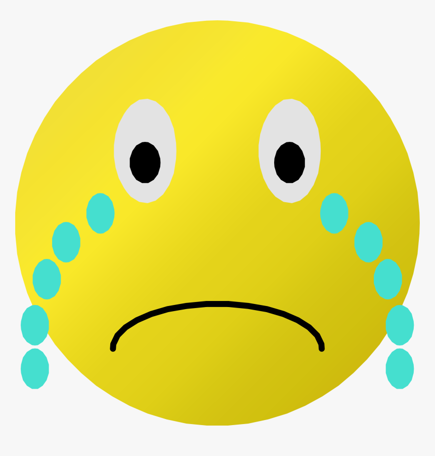 Cry Clipart Transparent - Clipart Sad Smiley Face, HD Png Download, Free Download