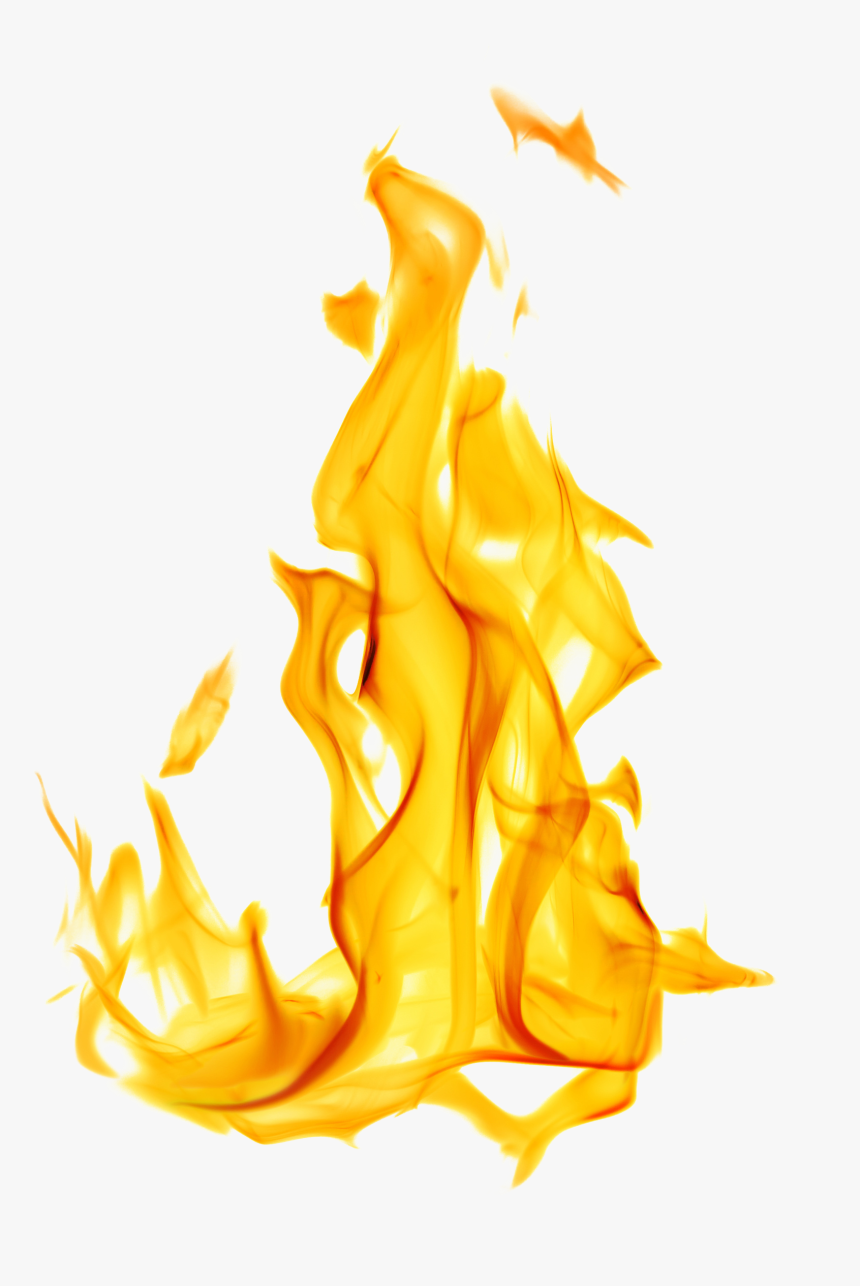 Transparent Realistic Fire Png - Flame With White Background, Png Download, Free Download