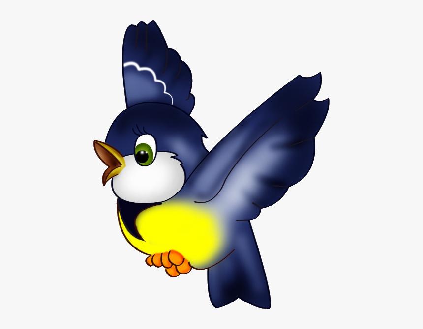 Blue Bird Clip Art - Flying Transparent Bird Clipart, HD Png Download, Free Download