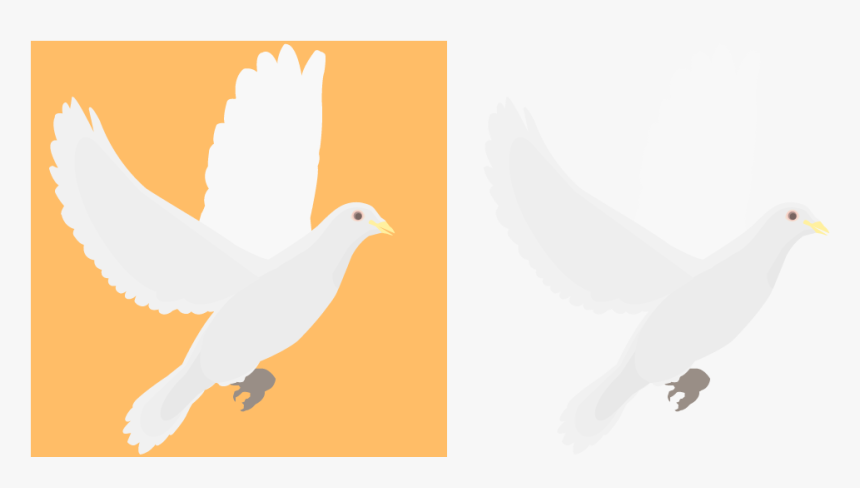 Religious Doves Clip Art - White Dove, HD Png Download, Free Download