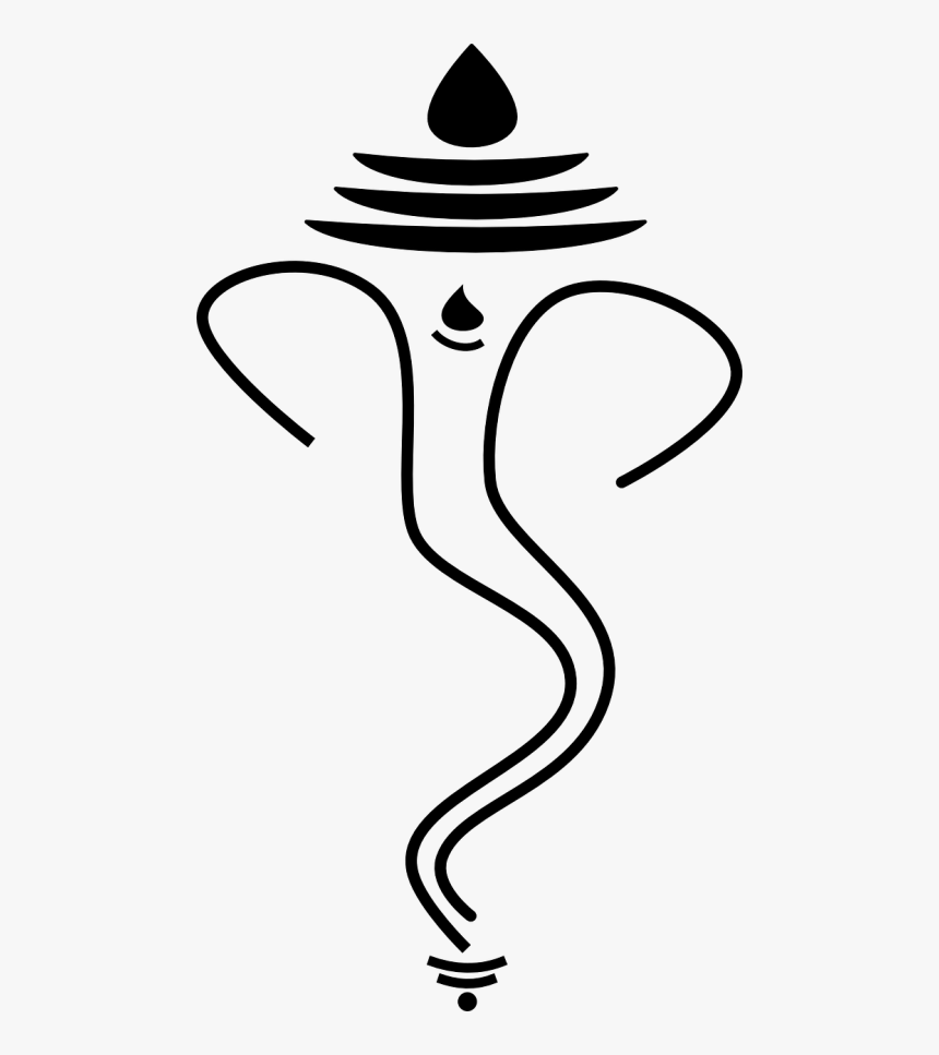 Ganesh Vector Ganesha Mouse - Ganpati Image Black And White, HD Png Download, Free Download