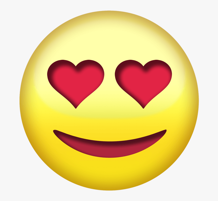 Heart Eye Emoji Png Transparent - Funny Smiley Face Stickers, Png Download, Free Download